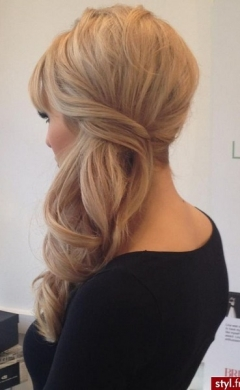 Side wedding hairstyle, Hale salon