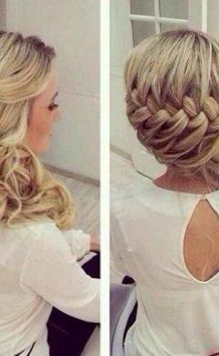 Intricate plaited bridal curly style, Hale salon