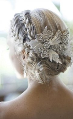 Plaited wedding upstyle, hair salon in Hale, Altrincham
